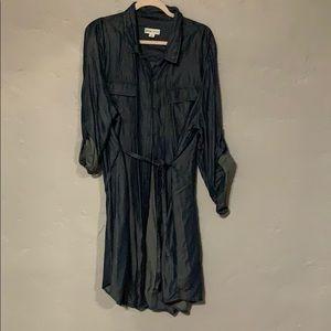 Denim style button up Shirt Dress. 2x